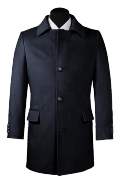 Manteau bleu-Vue Avant