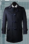 Blauer Mantel-Ansicht Vorderseite