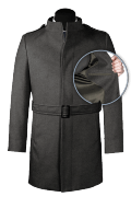 Grey belted Wool Coat-front_open