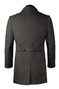 Grey Wool Coat-View Back