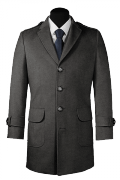 Grey Wool Coat-View Front