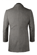 Manteau gris en laine-Vue Dos