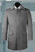 Manteau gris en laine-Vue Avant