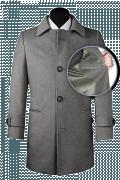 Grauer Mantel aus Wolle-front_open