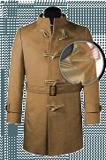 Beige belted Wool Coat-front_open