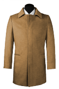 Beige Wool Coat-View Front