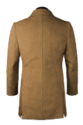 Beige Wool Coat-View Back