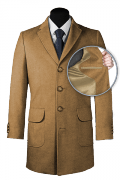 Manteau beige en laine-front_open