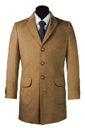 Beige Wool Coat-View Front