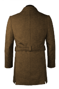 Brown belted Coat-View Back