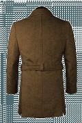 Brauner Stehkragen Mantel-Ansicht Rückseite