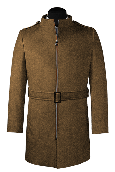Brown belted Coat