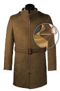 Brown belted Coat-front_open
