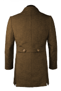 Brown stand up collar Duffle coat-View Back