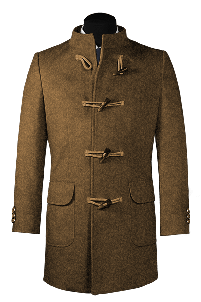 Brown stand up collar Duffle coat