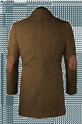 двубортное пальто с воротником-стойкой-Вид сзади
