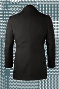 Black Pea coat-View Back