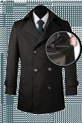 Black Pea coat-front_open