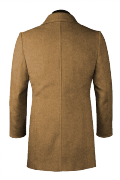 Beige double breasted Wool Coat-View Back