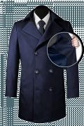 Cappotto doppiopetto blu di lana-front_open