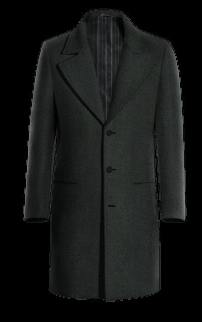 NEW Grauer Langes Mantel mit Breite Revers 47a1335b06