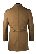 Brown stand up collar Coat-View Back