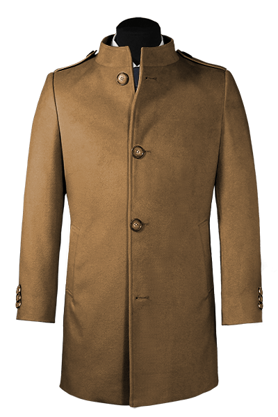 Brown stand up collar Coat