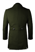 Green stand up collar Coat-View Back