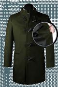 Cappotto a collo alto verde-front_open