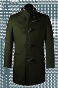 Cappotto a collo alto verde-Vista Frontale