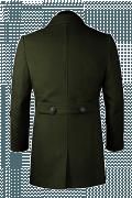 Grüner Mantel-Ansicht Rückseite