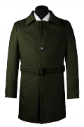 Green belted Coat-View Front