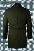 Grüner Mantel mit Gürtel-Ansicht Rückseite