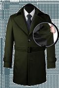 Grüner Mantel mit Gürtel-front_open