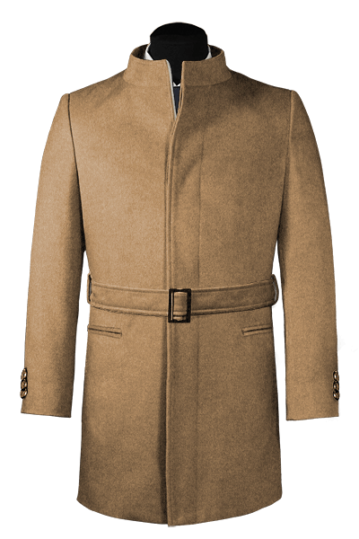 Brown belted Coat