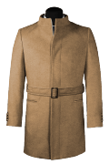 Brown belted Coat-View Front