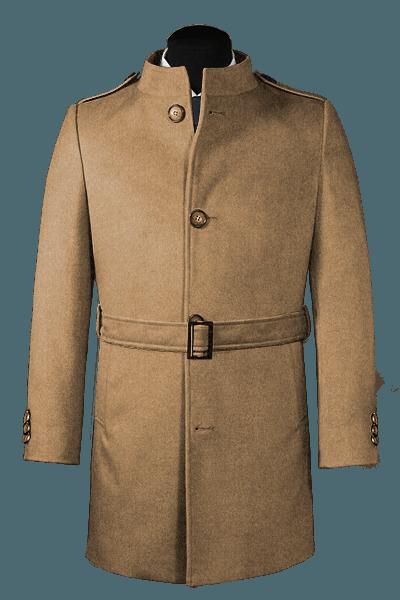 Brauner Stehkragen Mantel