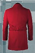 Roter Stehkragen Mantel-Ansicht Rückseite