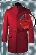 Roter Stehkragen Mantel-front_open