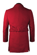 Red belted Coat-View Back