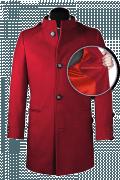 Manteau rouge avec col droit-front_open