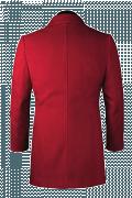 Roter Stehkragen Dufflecoat-Ansicht Rückseite