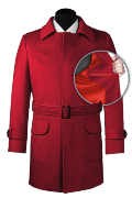 Red belted Coat-front_open