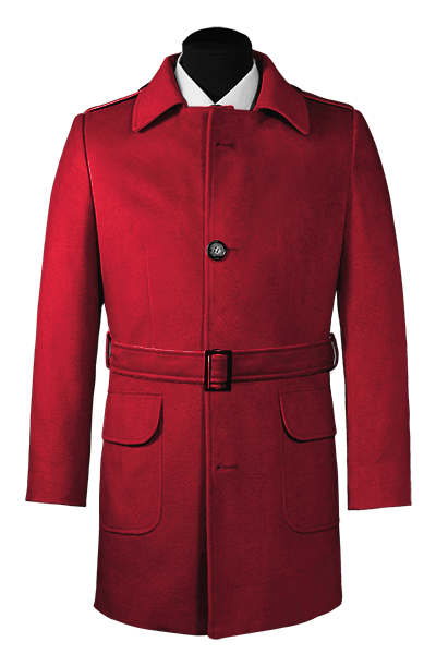 Red belted Coat