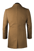 Brown double breasted Coat-View Back