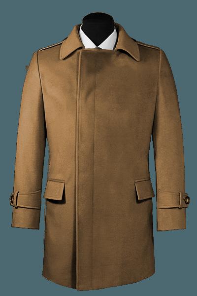 Manteau marron croisé