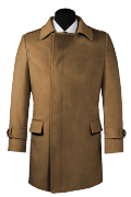 Brown double breasted Coat-View Front