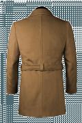Manteau marron croisé avec ceinture-Vue Dos
