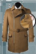 Manteau marron croisé avec ceinture-front_open