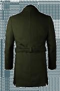 двубортное пальто с поясом-Вид сзади